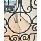 Kovácsoltvas térelválasztó panel - egyedi, szélesség: kb. 80cm magasság: kb. 180cm