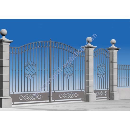 BALL OR SPIKE TOP DECORATIVE WROUGHT IRON WALL AND FENCE TOPPERS 1000MM LONG