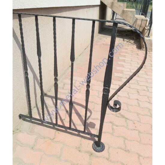 Kovácsoltvas korlát - modern kovácsolt, szélesség (faltól - oszlop közepéig): kb. 75cm magasság: kb. 100cm