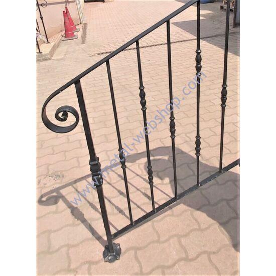 Kovácsoltvas lépcsőkorlát -pálcás, szélesség (faltól - oszlop közepéig): kb. 73cm magasság: kb. 100cm