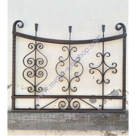 Kovácsoltvas panel - egyedi, szélesség: kb. 100cmmagasság: kb. 80cm