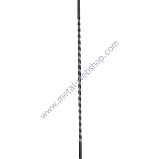 Csavart pálca sima négyzetacélból, többféle anyagvastagságban és magasságban (140)