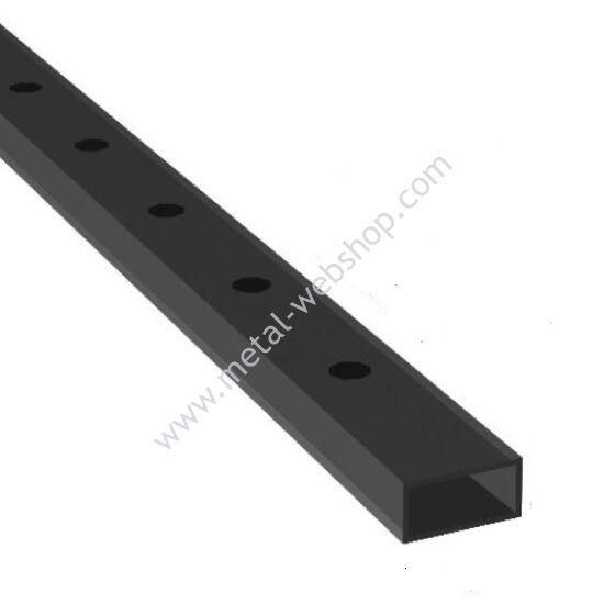 Lyukasztott zártszelvény 30x20x2mm, félig átfúrt, többféle lyukmérettel és hosszúságban