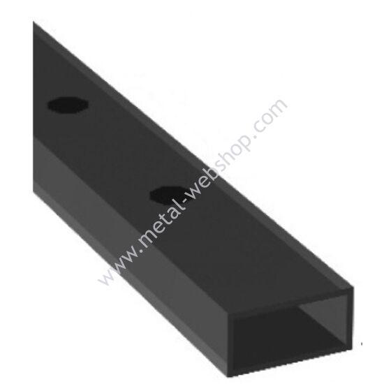 Lyukasztott zártszelvény 40x20x2mm, félig átfúrt, többféle lyukmérettel és hosszúságban