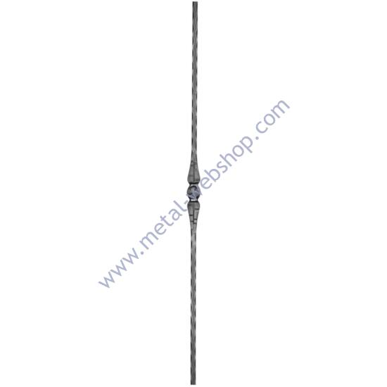Modern design pálca mángorolt négyzetacélból, többféle anyagvastagságban (147)