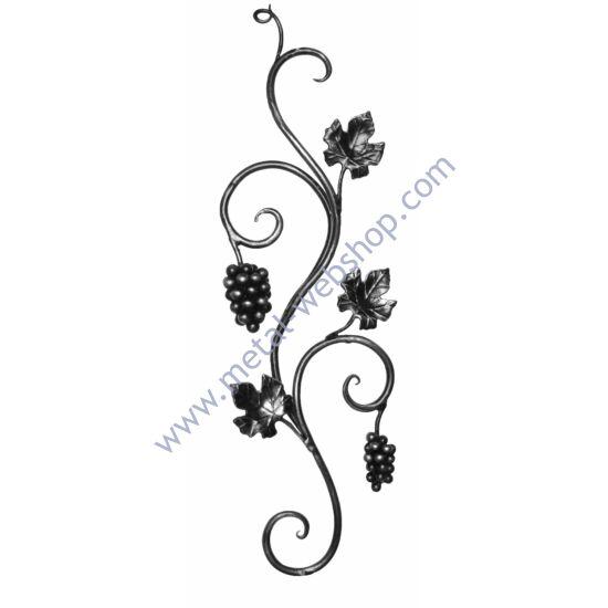 Kézi kovácsolt szőlőmotívum (683/F)