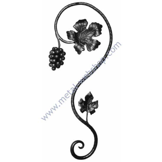 Kézi kovácsolt szőlőmotívum (683/D)