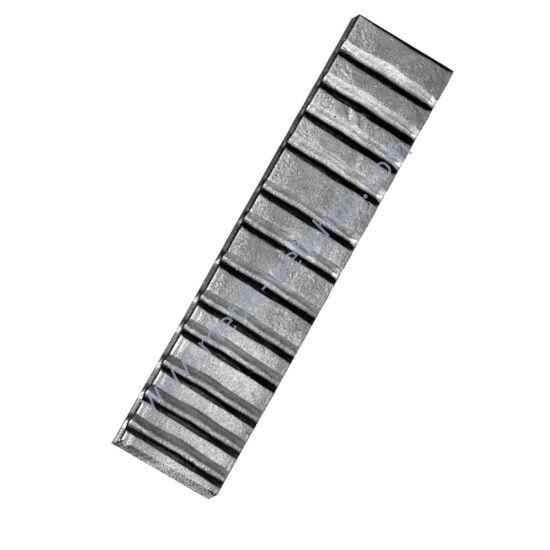 Kovácsolt laposacél, nagykapu hézagtakaró (445)