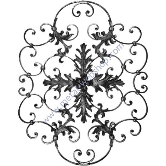 Barokk elem, díszrozettával, levéllel mindkét oldalon (288)