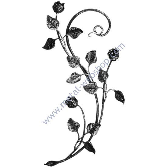 Kézi kovácsolt virágmotívum (680)