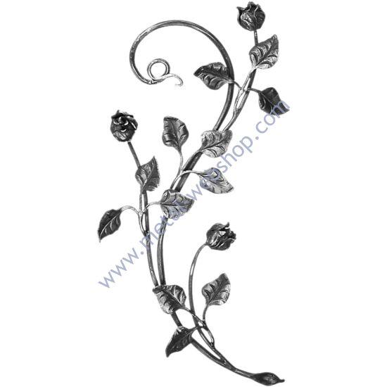 Kézi kovácsolt virágmotívum (681)