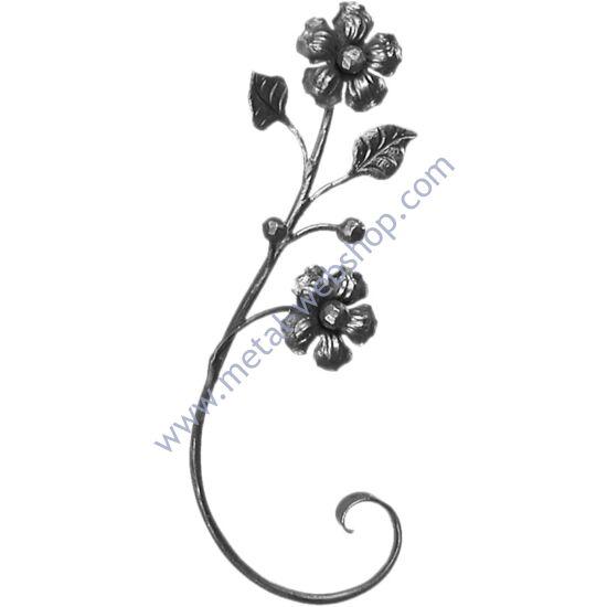 Kézi kovácsolt virágmotívum (683)
