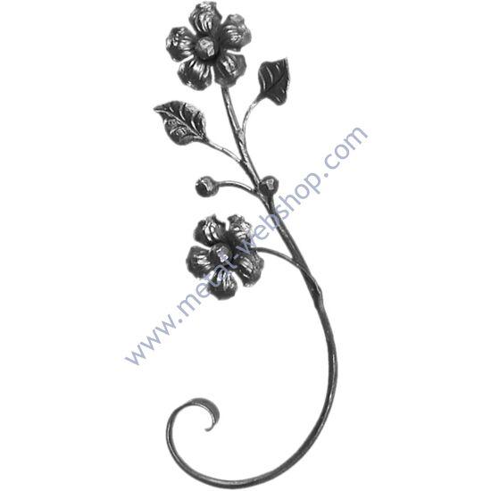 Kézi kovácsolt virágmotívum (682)