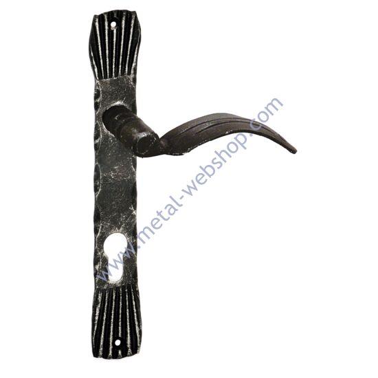 MONACO kovácsolt ajtósilt kilinccsel (802), biztonsági záras lyukkal, festett és antikolt, többféle kilincs-kulcslyuk tengelytávval (55/72/85/90/92mm)