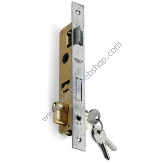 Portálzár (38x210mm) 40x40x2mm-es zártszelvénybe, réz biztonsági zárbetéttel, 3 kulccsal (800/A)