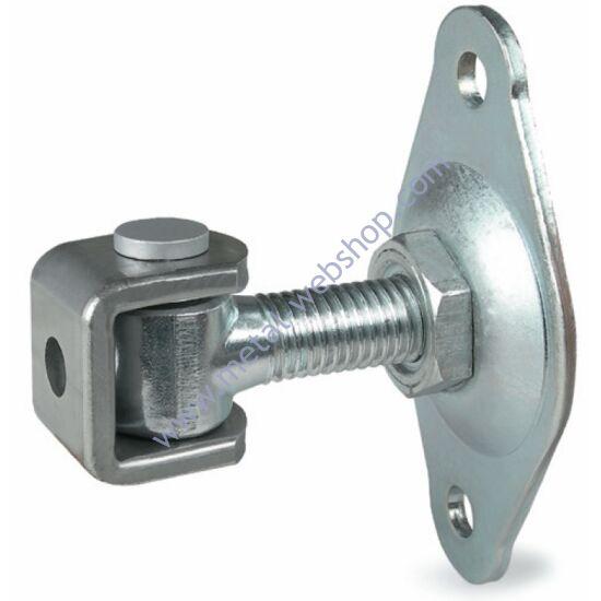 Felső forgáspont csavarozható talppal, állítható (forgócsap rögzítése Seeger gyűrűvel), többféle méretben